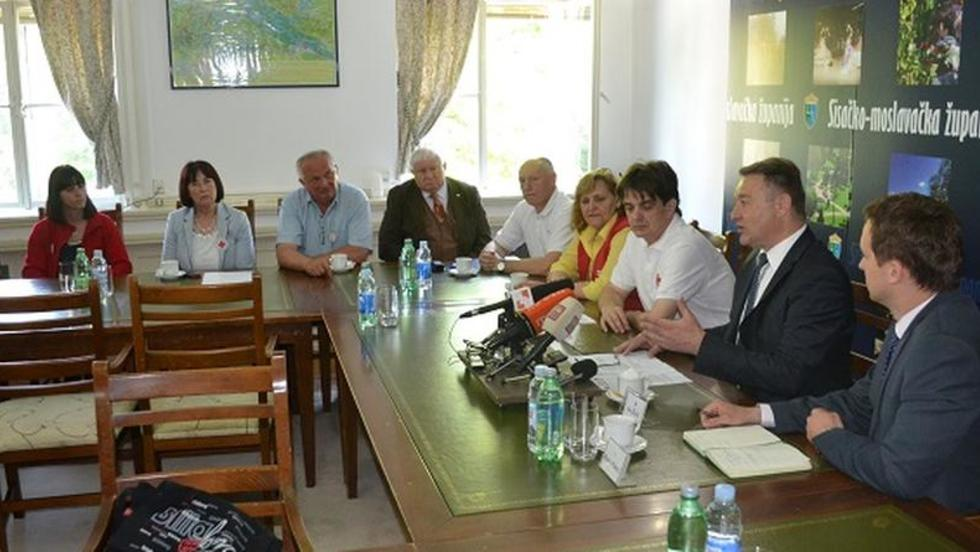 Župan Žinić primio predstavnike Hrvatskog Crvenog križa