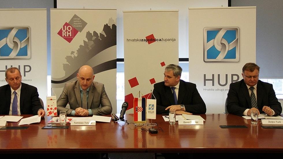 Sporazum o suradnji između HUP-a, Hrvatske zajednice županija, Udruge gradova i Udruge općina