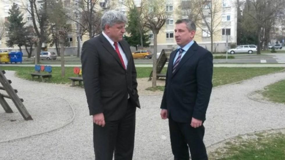 Susret župana Zlatka Komadine i Predraga Štromara u Varaždinu
