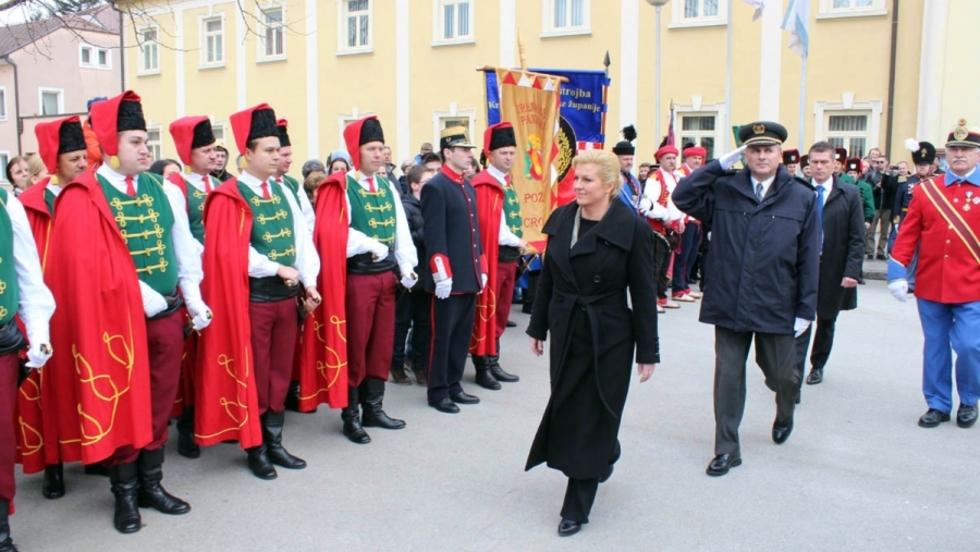 Predsjednica Republike Hrvatske Kolinda Grabar-Kitarović u Požeško-slavonskoj županiji