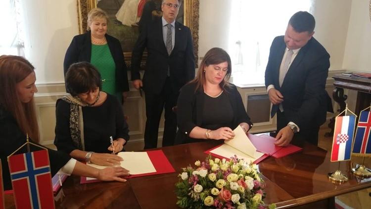 Norveška podupire razvoj Hrvatske sa 100 milijuna eura