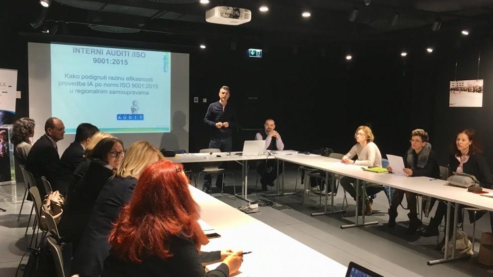 Održana edukacija o internim auditima u regionalnoj samoupravi