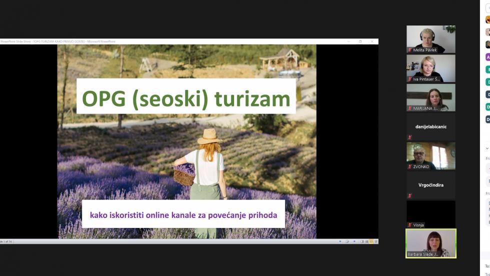 Održan webinar o korištenju online kanala za povećanje prihoda OPG-ova