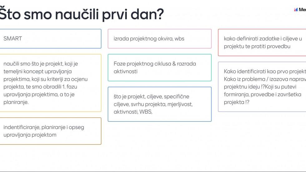 """Održana radionica """"Upravljanje projektima"""""""